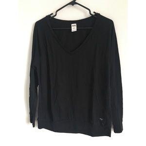 2/$15 VS PINK Black long sleeve shirt size small